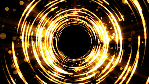 Golden background for celebration with particles and light circles Animation
