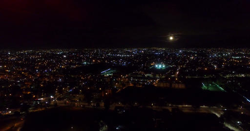 Aerial night view of the city Footage