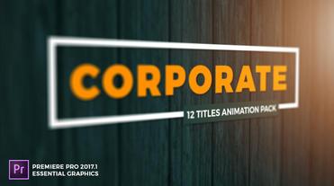 Corporate Title MOGRT モーショングラフィックステンプレート