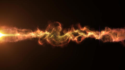 Abstract Background With Loopable Motion Wave Animation