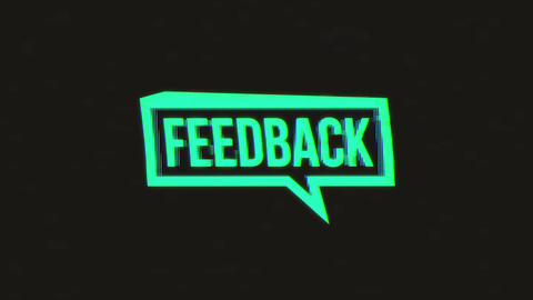 Social Network Speech Bubble Sign With Glitch Effects Animation