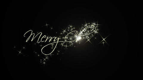 Merry Christmas - Text animation (with alpha) Animación