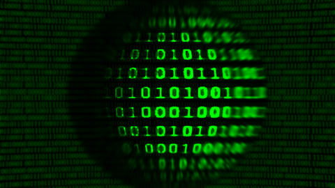 Binary code screen data code Animation