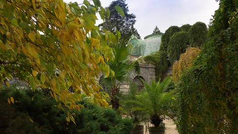 Greenhouse at Lednice castle from different perspectives Live Action
