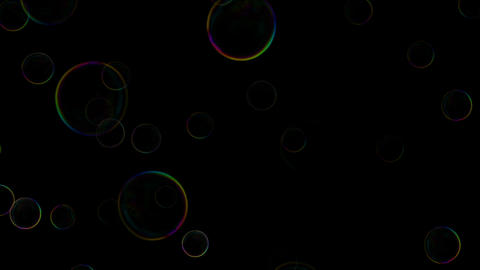 Bubbles in Slow Motion. Close up view of beautiful big soap bubble is flying Animation