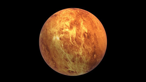 Rotating Venus, super realistic landscape, 3D video, footage, black background 애니메이션