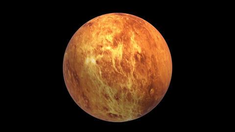 Rotating Venus, super realistic landscape, 3D video, footage, black background Animation