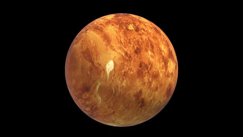 Rotating Venus, super realistic landscape, 3D video,… Stock Video Footage