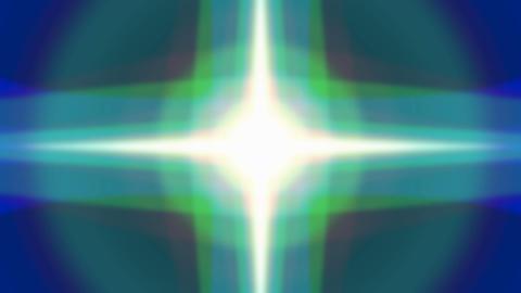 Vibrant light glow.Blue pulsing beam Animation