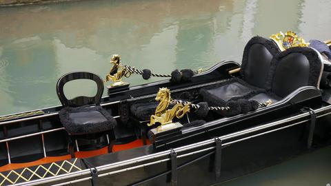 Gondola boat close-up Live Action