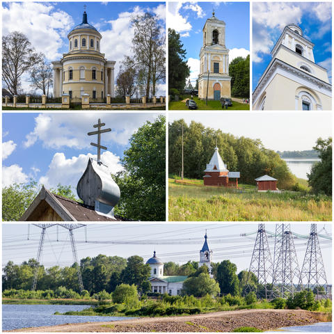 Collage with Orthodox churches Photo