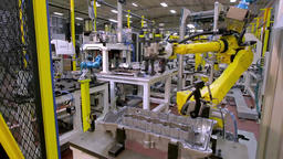 Robotic Arm production lines Stock Video Footage