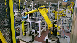 Robotic Arm production lines Footage