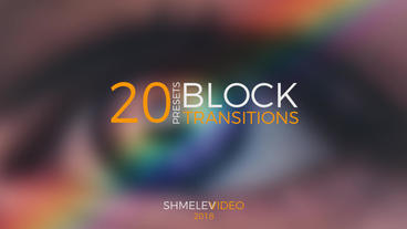Block Transitions Presets Premiere Proテンプレート