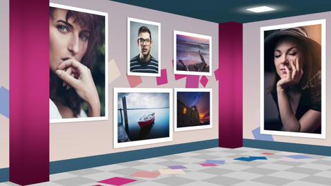Photo Exhibition walkthrough animation Apple Motion Template
