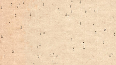Handwritten animation style rain _ brown paper Animation