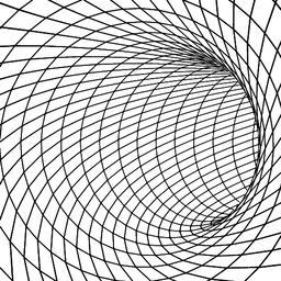 Tunnel or wormhole 3D surface tunnel.Grid texture Vector Vector