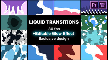 Liquid Motion Transitions Motion Graphics Template