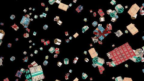 Christmas Presents falling Loop GIF