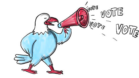 Vote American Eagle Bullhorn Drawing 2D Animation Animation