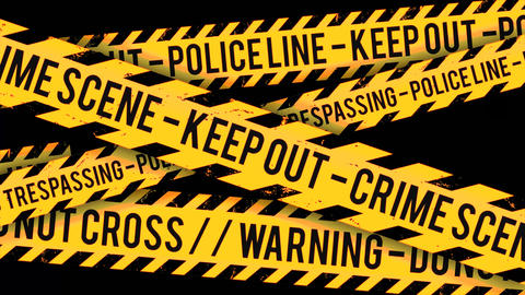 Police Line, Crime Scene Tape Background Clip Animation