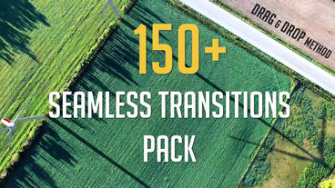 150+ Seamless Transitions Pack Premiere Proテンプレート