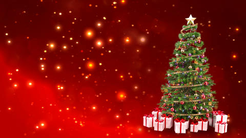 decorating a Christmas tree by glitter shiny particles. gift redemption theme - Footage