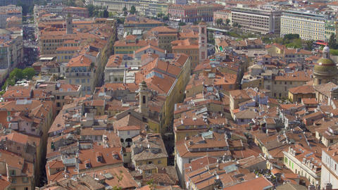 Cityscape of Nice, panoramic view of buildings, embankment and sea, tourism Footage