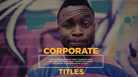 Coporate Titles - Lower Thirds After Effects Template
