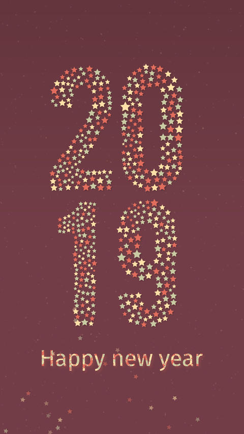New Year Countdown 3sec Portrait CG動画素材
