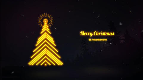 Neo Christmas Greeting After Effects Template