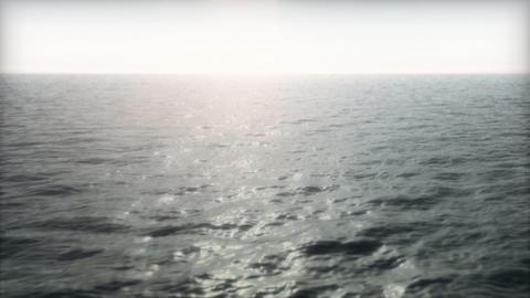 Ocean Flyover Into the Sun Stock Video Footage
