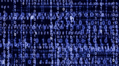internet binary data highway blue 10839 Animation