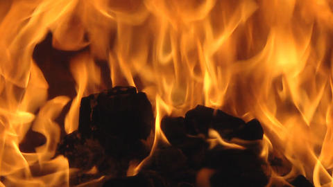 Fireplace  7 Loop stock footage