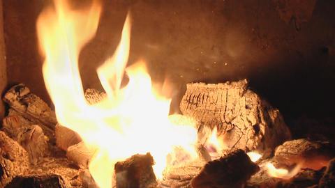 fireplace loop Stock Video Footage