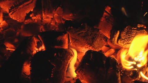 live coals loop Stock Video Footage