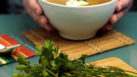 Soup dolly Stock Video Footage