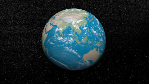 Rotation of the earth - 3D render Stock Video Footage