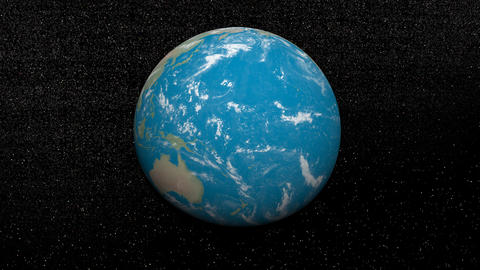 Rotation of the earth - 3D render Animation