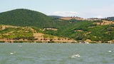 Peaceful Look At The Danube Bay stock footage