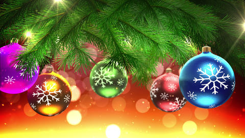 christmas tree and decorations loop Animation