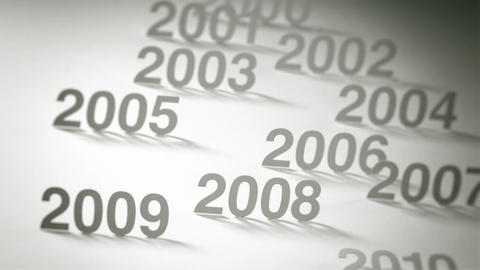 Simple Timeline Concept Animation: 2000s and 2010s Stock Video Footage