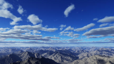 flying through the clouds and the mountains Stock Video Footage