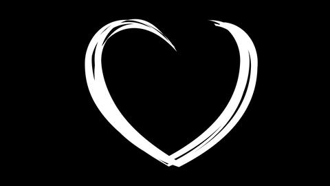 Drawing heart with love Stock Video Footage