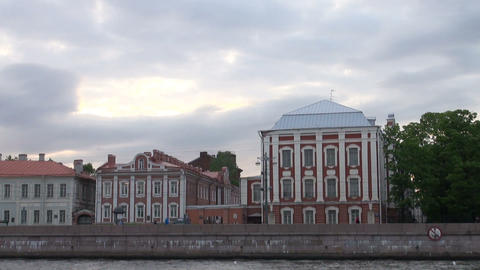 The building of 12 boards in St. Petersburg. Russia Footage