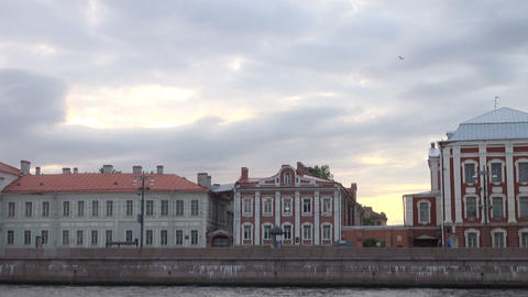 The building of 12 boards in St. Petersburg. Russia Stock Video Footage