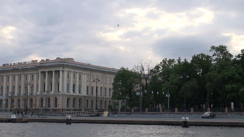 The Academy of arts in St. Petersburg Stock Video Footage