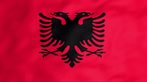 Flag Of Albania Stock Video Footage