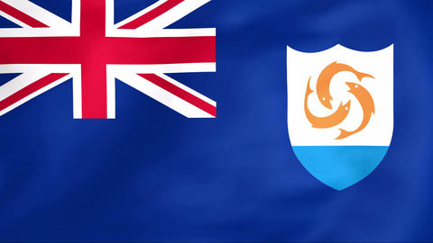 Flag Of Anguilla Animation