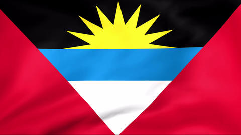 Flag Of Antigua and Barbuda Stock Video Footage
